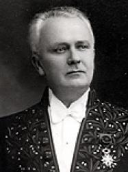 François Albert-Buisson en habit d'académicien
