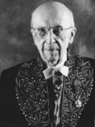 Jean Guitton en habit d'académicien