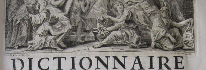 Bandeau de la troisième édition du Dictionnaire