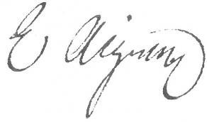Signature d'Étienne Aignan