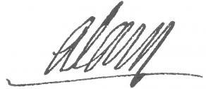 Signature de Pierre-Joseph Alary