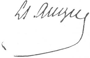 Signature de Louis-Simon Auger