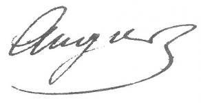 Signature d'Émile Augier
