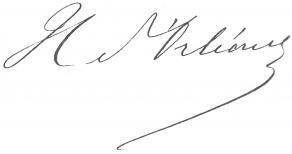 Signature d'Henri d'Orléans, duc d'Aumale