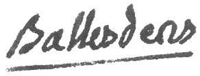 Signature de Jean Ballesdens