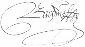 Signature de Pierre Bardin