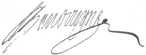 Signature de Jean Baudoin