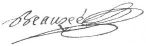 Signature de Nicolas Beauzée