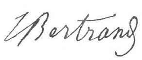 Signature de Joseph Bertrand