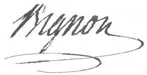 Signature d'Armand-Jérôme Bignon