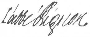 Signature de Jean-Paul Bignon, abbé