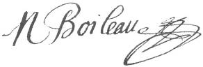 Signature de Nicolas Boileau-Despréaux