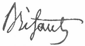 Signature de Charles Brifaut