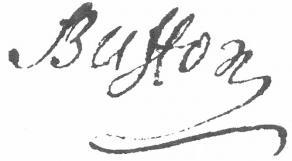 Signature de Georges-Louis Leclerc, comte de Buffon