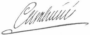 Signature de Jean-Jacques-Régis de Cambacérès
