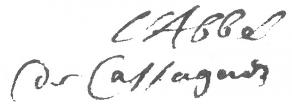 Signature de Jacques Cassagne
