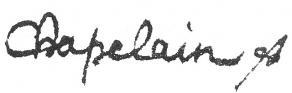 Signature de Jean Chapelain
