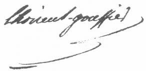 Signature de Marie-Gabriel-Floren-Auguste de Choiseul-Gouffier
