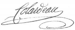 Signature de Charles-Pierre Colardeau