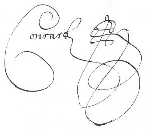 Signature de Valentin Conrart