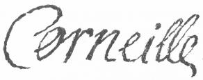 Signature de Pierre Corneille
