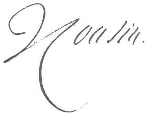 Signature de Victor Cousin