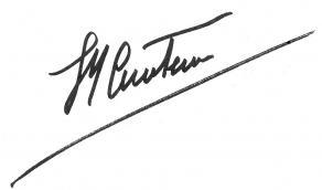 Signature de Jacques-Yves Cousteau