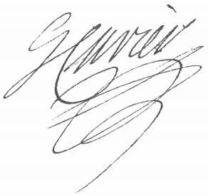 Signature de Georges Cuvier