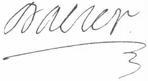 Signature d'André Dacier