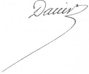 Signature de Bon-Joseph Dacier
