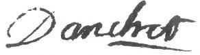 Signature d'Antoine Danchet