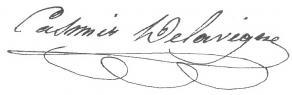 Signature de Casimir Delavigne