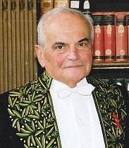 M. Michel Déon, le jour de la réception de M. Frédéric Vitoux, le 27-3-2003