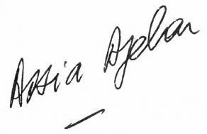 Signature de Assia Djebar