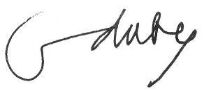 Signature de Georges Duby