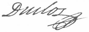 Signature de Charles Pinot Duclos