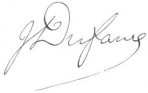 Signature de Jules-Armand Dufaure