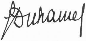 Signature de Georges Duhamel
