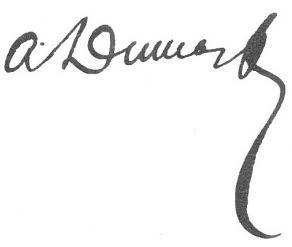 Signature d'Alexandre Dumas fils