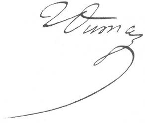 Signature de Jean-Baptiste Dumas