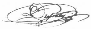 Signature d'Emmanuel Mercier Dupaty