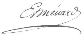 Signature de Joseph-Alphonse Esménard