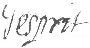 Signature de Jacques Esprit