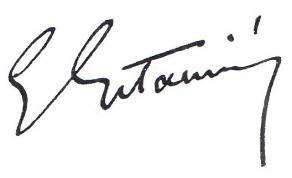 Signature d'Edouard Estaunié