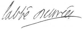 Signature de Jean d'Estrées