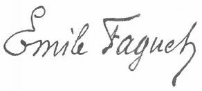 Signature d'Émile Faguet