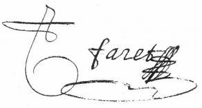 Signature de Nicolas Faret