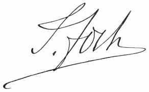 Signature du maréchal Foch