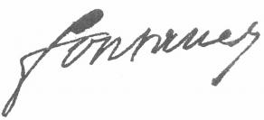 Signature de Louis-Marcelin de Fontanes
