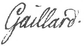 Signature de Gabriel-Henri Gaillard